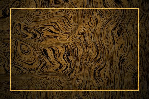 Bordure dorée motif marbre doré foncé et carrelage mural intérieur de luxe et sol