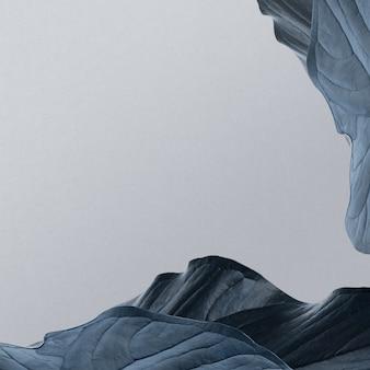 Bordure de feuille bleue grise