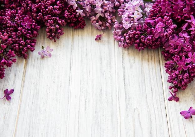 Bordure fleur printanière lilas