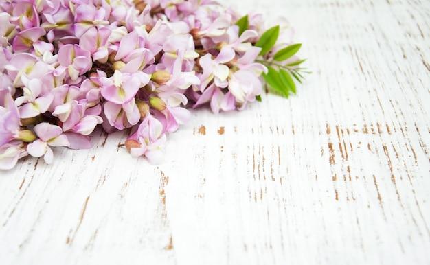 Bordure avec des fleurs d'acacia