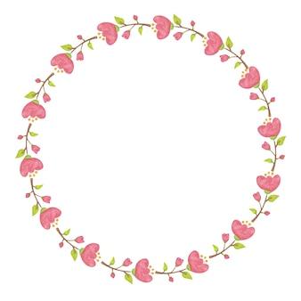 Bordure de fleurs florales de conception de cadre de fleur