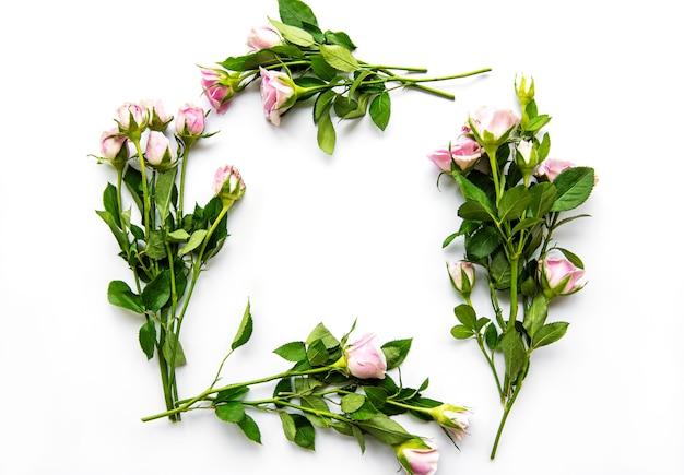 Bordure florale avec espace vide