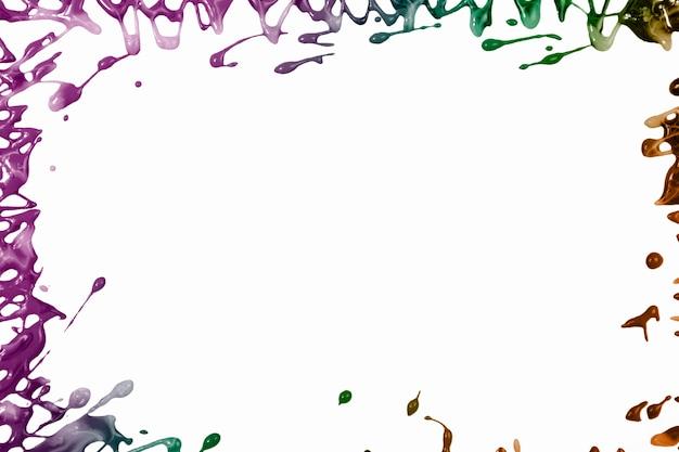 Bordure de peinture colorée