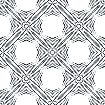 Bordure transparente tropicale dessinée à la main. superbe design d'été boho chic noir et blanc. impression merveilleuse prête pour le textile, tissu de maillot de bain, papier peint, emballage. modèle sans couture tropical.