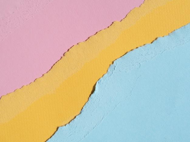 Bordures de papier déchiré abstraites à plat