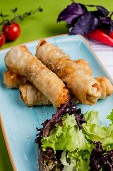 Borek turc avec côté verdure