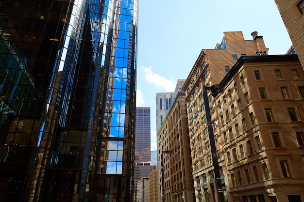 Boston dans les immeubles du centre-ville du massachusetts