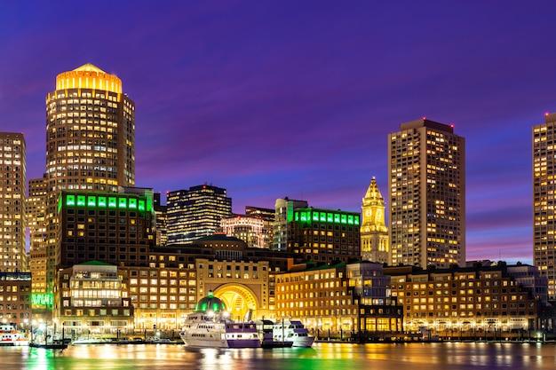 Boston downtont nuit