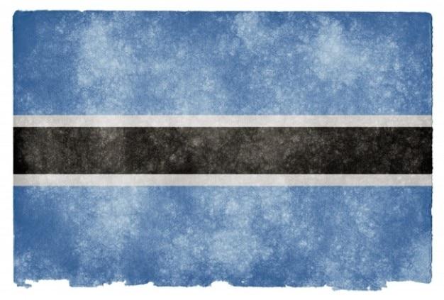 Botswana flag grunge