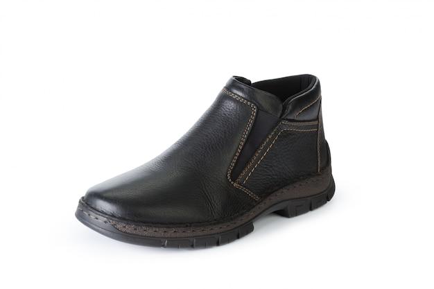 Bottes de chaussures hommes isolés sur fond blanc