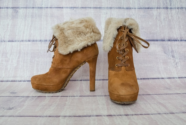 Bottes d'hiver pour femmes marron