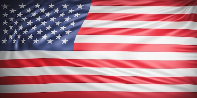 Bouchent la belle vague de drapeau américain
