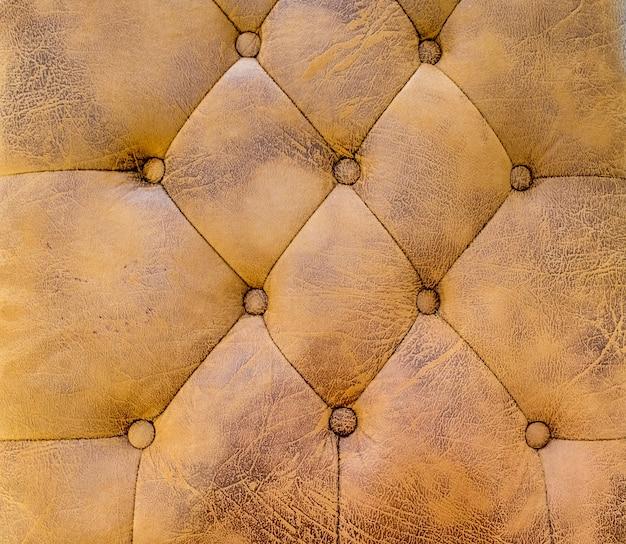 Bouchent fond de texture de canapé en cuir marron