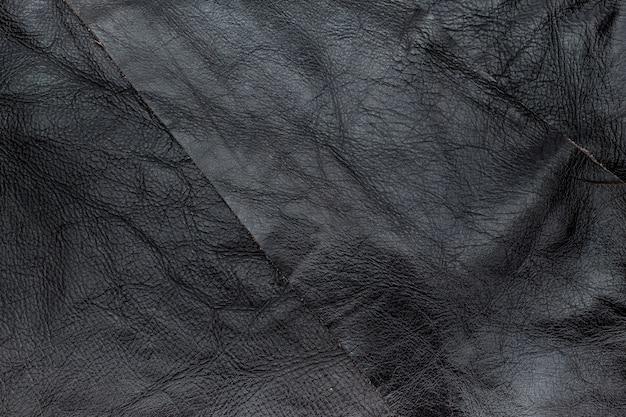 Bouchent fond de texture cuir froissé couleur marron foncé