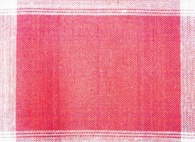 Bouchent fond de tissu rouge et blanc.