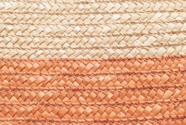 Bouchent la texture du panier en osier à utiliser comme arrière-plan. texture de panier tissé.