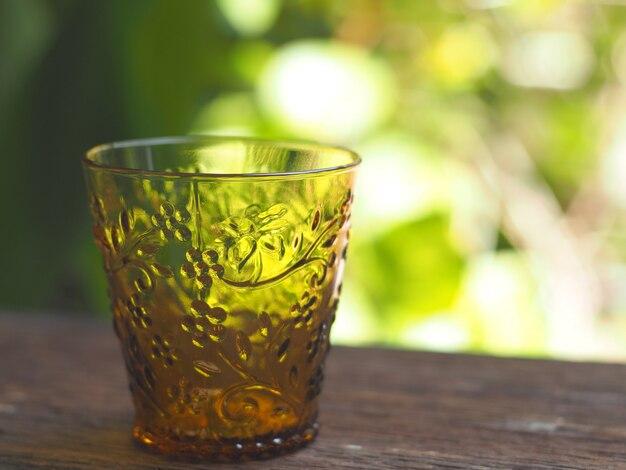 Bouchent le verre ambré vintage