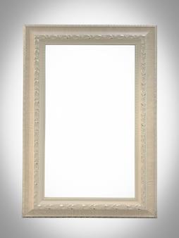 Bouchent le vieux cadre photo en bois