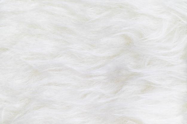 Bouchent la vue de dessus de la surface de fond de texture de fourrure propre blanc