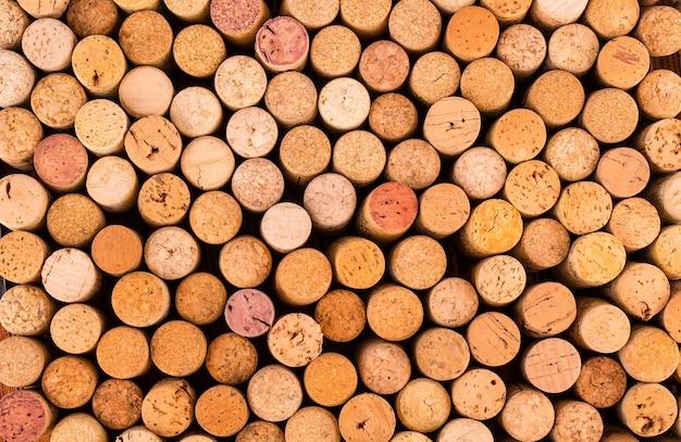 Bouchons de bouteilles de vin.