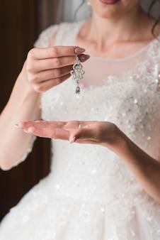 Boucle d'oreille de mariée
