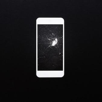 Bouclier en verre trempé ou couverture d'écran en film pour smartphone sur couleur noire