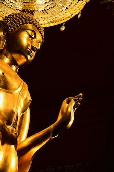 Bouddha pang style d'image statue de bouddha thaïlandais le jour de visakha bucha est la fête bouddhiste la plus importante
