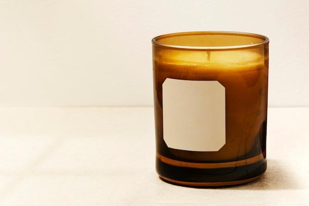 Bougie aromatique de luxe décorative pour spa à domicile essentiel