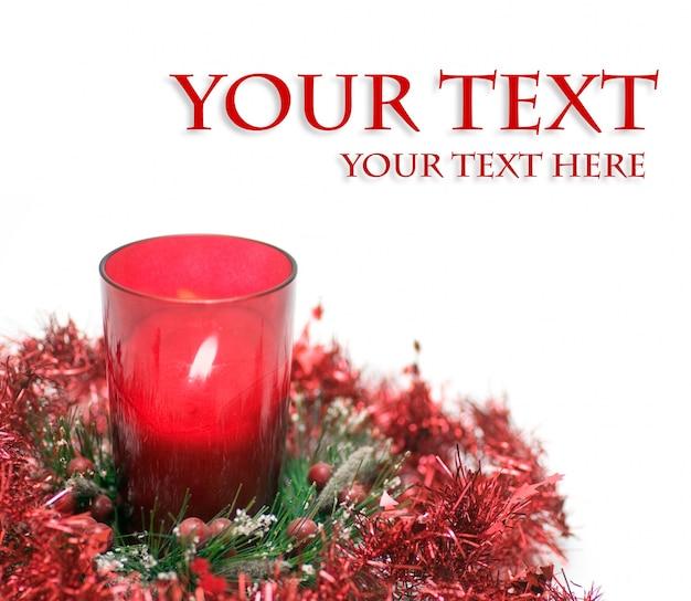 Bougie Avec Un Message Photo gratuit