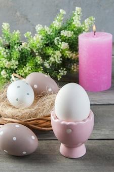 Bougie parfumée aux œufs et à la rose