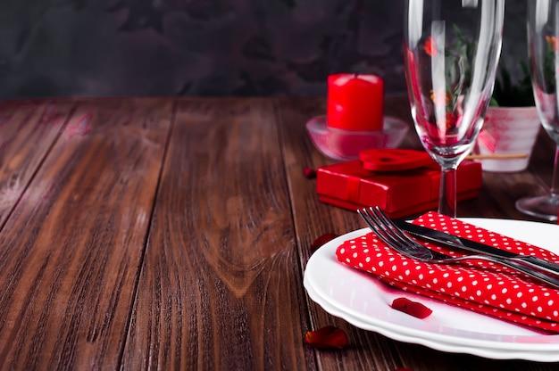 Bougie romantique table saint valentin