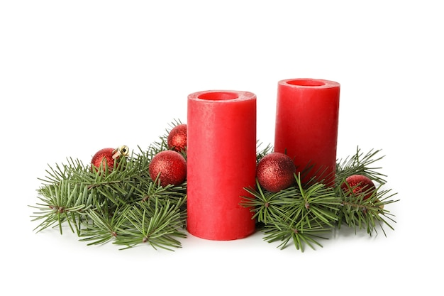 Bougies parfumées pour se détendre isolated on white