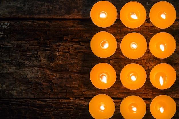 Bougies de spa aromatisées et espace pour le texte