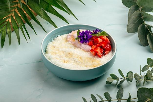 Bouillie de riz hawaïenne au lait de coco