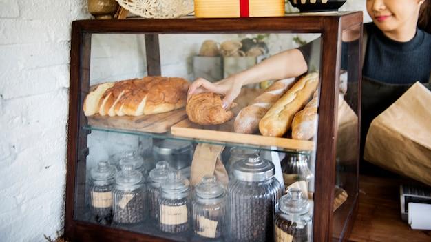 Boulanger de pâte à tarte baker cafe