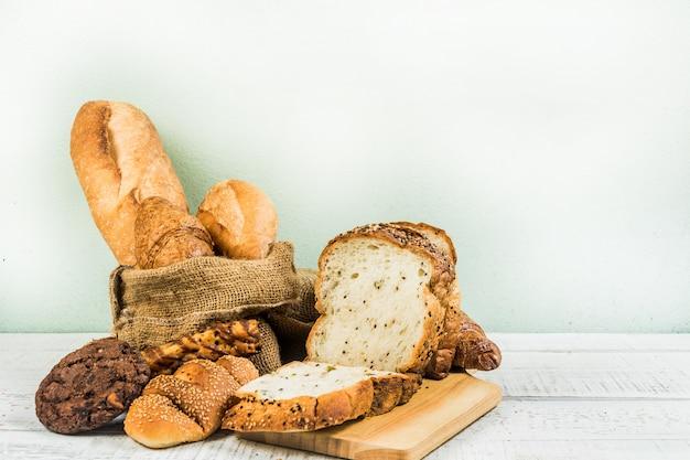 Boulangerie sur bois fond blanc