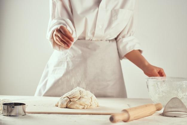 Boulangerie de cuisson de farine de pâte à rouler