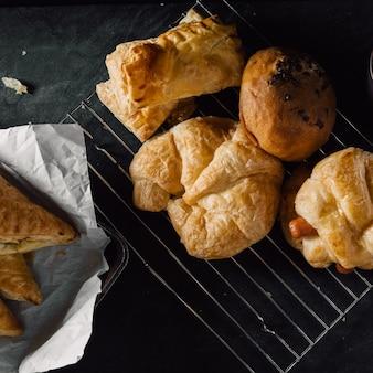 Boulangerie sur fond de tableau noir