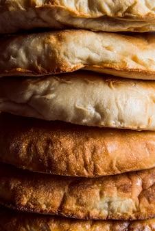 Boulangerie fraîchement préparée vue rapprochée