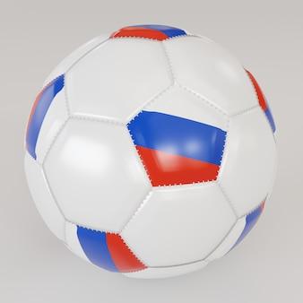Boule de chaussette blanche avec le drapeau de la russie sur fond blanc