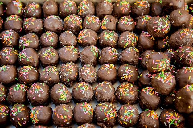 Boule de choccolate dans la boulangerie