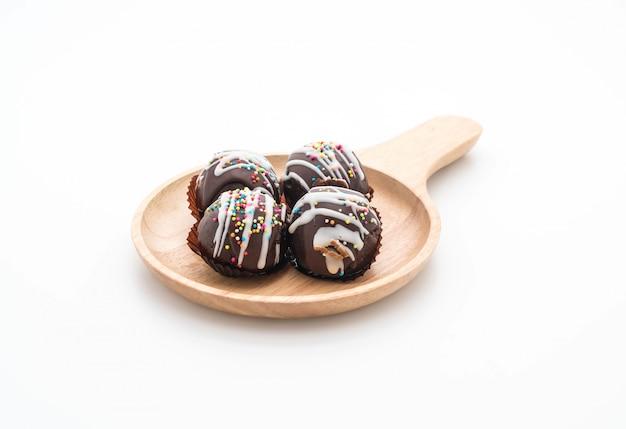Boule de chocolat fantaisie sur plaque