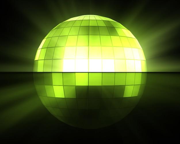 Boule disco verte