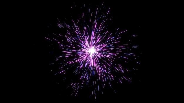 Boule d'énergie de forme géométrique abstraite, effets de ligne éclaté fantastique lueur starburst, fond graphique numérique de géométrie créative
