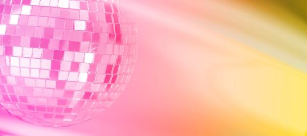 Boule à facettes avec fond dégradé coloré. discothèque de nuit. photo de haute qualité