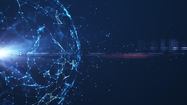 Boule de lumière futuriste