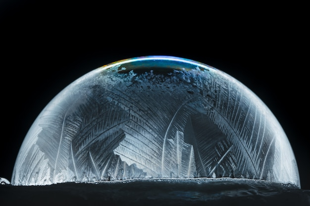 Boule à neige de noël flocon de neige