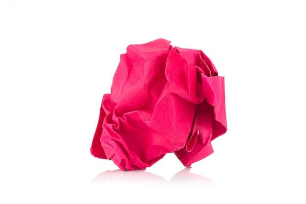 Boule de papier de couleur orange isolée