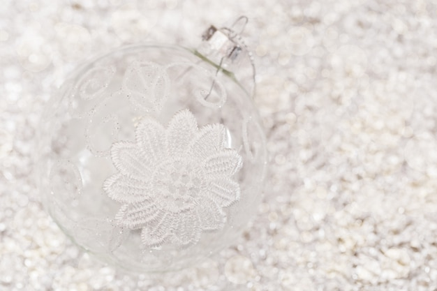 Boule transparente du nouvel an