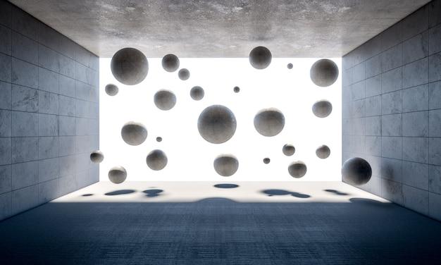 Boules de béton dans la chambre